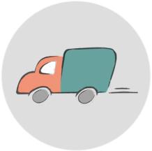 disegno stilizzato di un camioncino - ASTer