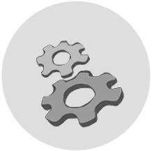 disegno stilizzato di ingranaggi - ASTer