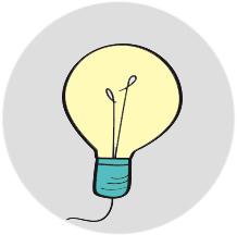 disegno stilizzato di una lampadina - ASTer