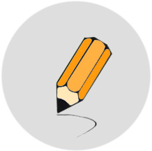 disegno stilizzato di una matita - ASTer
