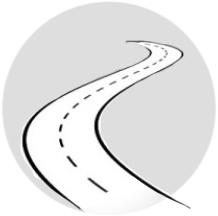 disegno stilizzato di una strada - ASTer
