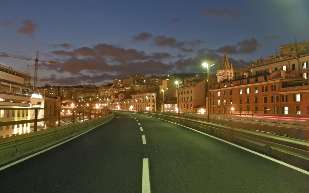 Ci occupiamo dell'illuminazione della Sopraelevata di Genova