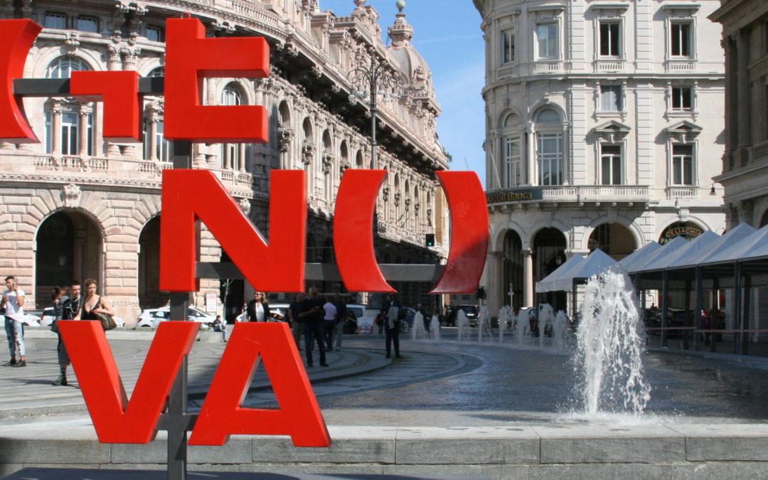 Prendono vita i getti laterali della fontana di Piazza De Ferrari