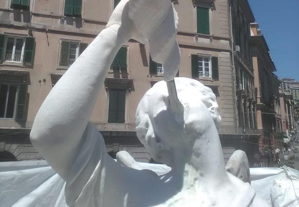 Restauro della Fontana di Piazza Colombo